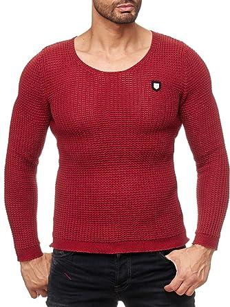 Red Bridge Strickpullover Herren Men of the Year warmer Pullover Pulli  R31502 Redbridge (Grün, Grau, Weiß, Blau, Schwarz, Rot, Größe: S, M, L, XL,  XXL): ...