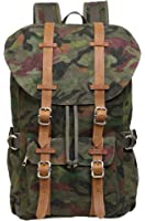 "Veenajo Vintage Laptop Canvas Backpack,Casual Large College School Daypack,Travel Hiking& Camping Rucksack Pack, Shoulder Book Bags Back for Men Outdoor Sports Recreation Fits 15"" Laptop & Tablets"