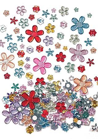 Selbstklebende Acryl Schmucksteine Blumen Sticker Zum Basteln