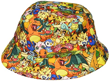 eed4d9a9b Amazon.com: bioWorld Pokemon All Over Print Sublimated Bucket Hat ...