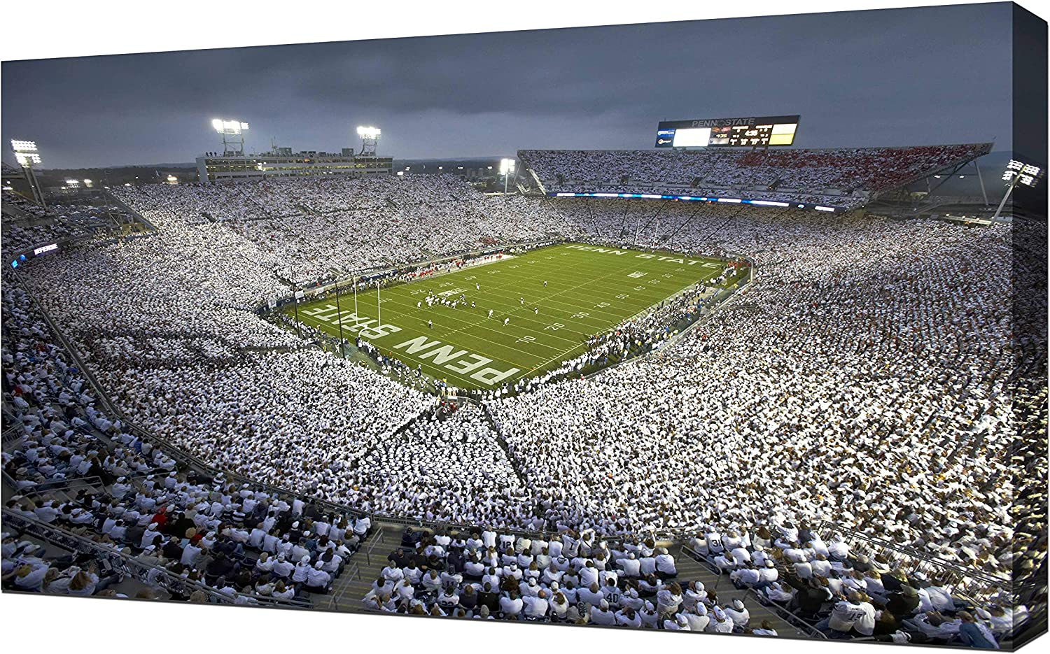 Penn State Football White Out Beaver Stadium - Canvas Art Print Picture