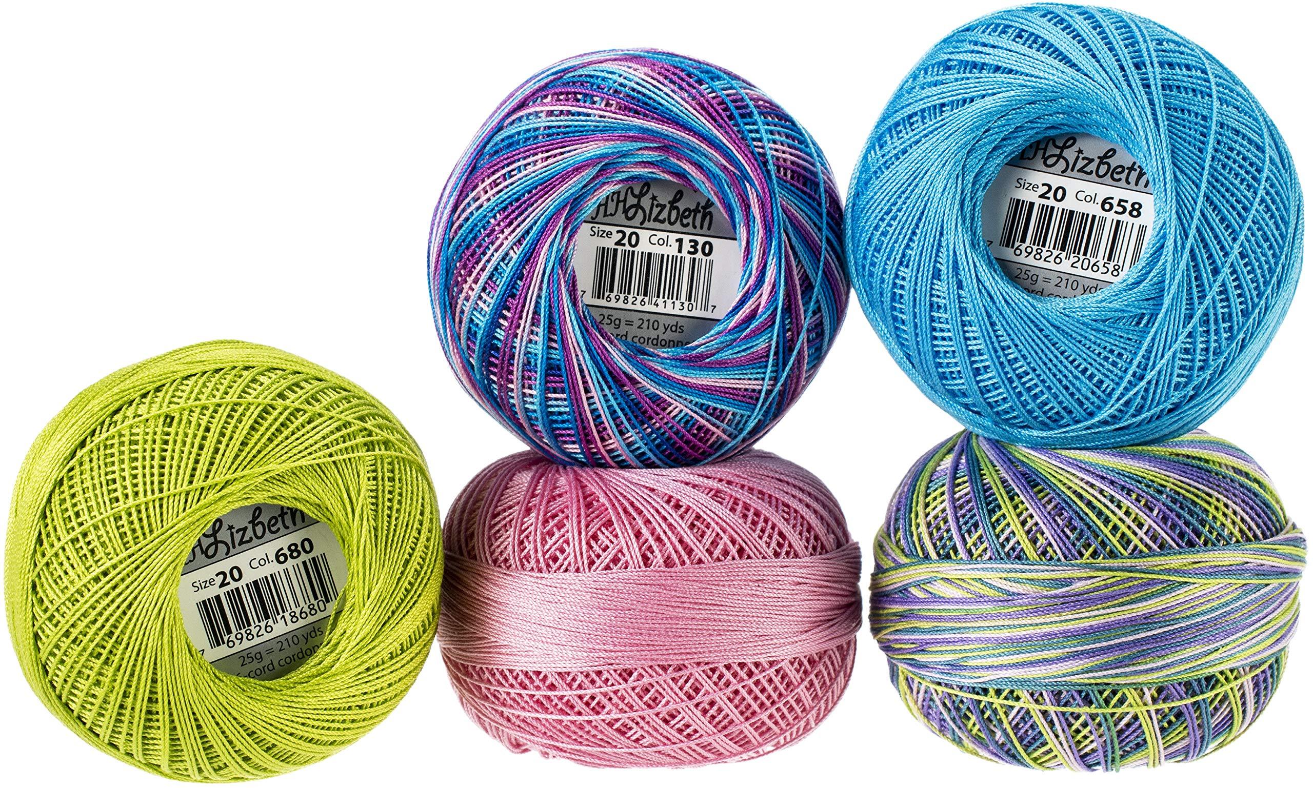 Handy Hands Lizbeth Specialty Pack Cordonnet Cotton Size 20-Spring Breeze 5/Pkg
