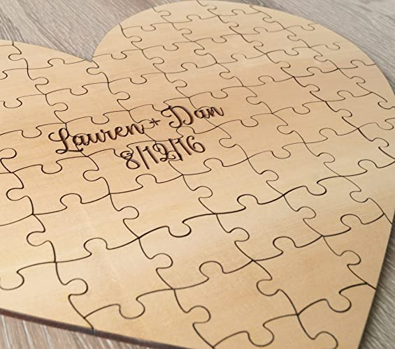 Wedding Guest Book Puzzle Guest Book Alternative