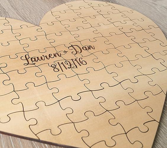 Amazon.com: Wedding Guest Book Puzzle, Guest Book Alternative ...