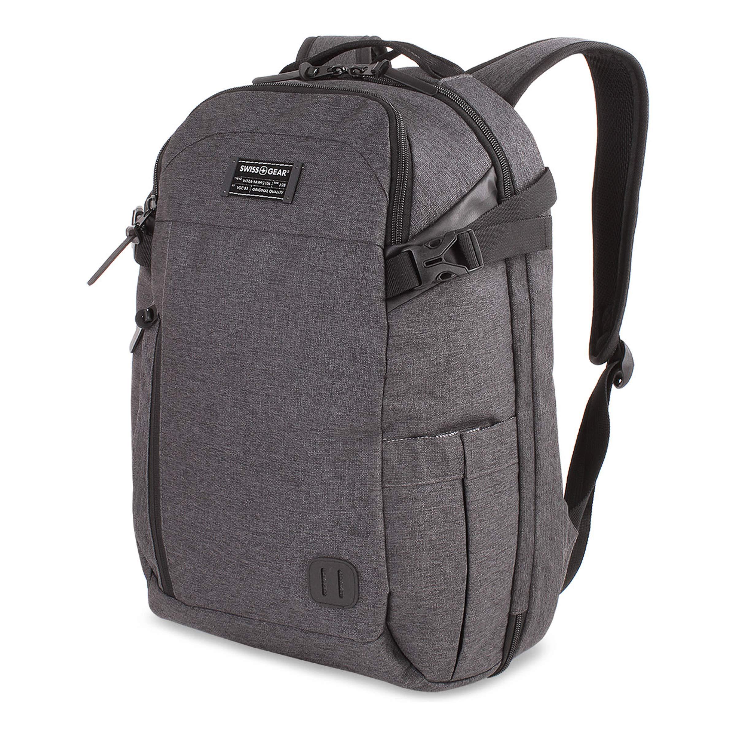 SWISSGEAR Getaway Weekend 15-inch Padded Laptop Backpack | Travel, Work, School | Men's and Women's - Heather Gray by Swiss Gear