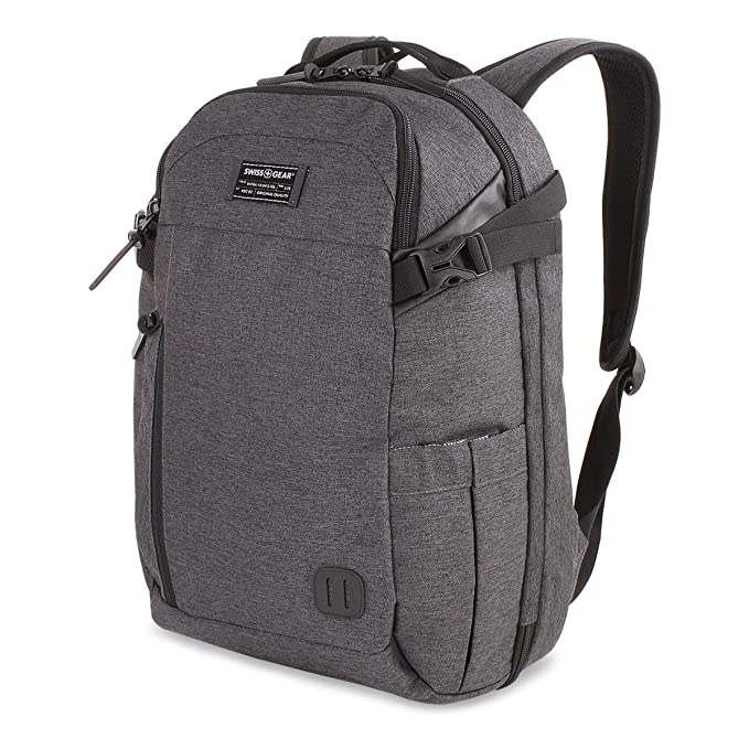 5ff2f7c14b8 SWISSGEAR Getaway Weekend 15-inch Padded Laptop Backpack | Travel, Work,  School | Men's and Women's - Heather Gray