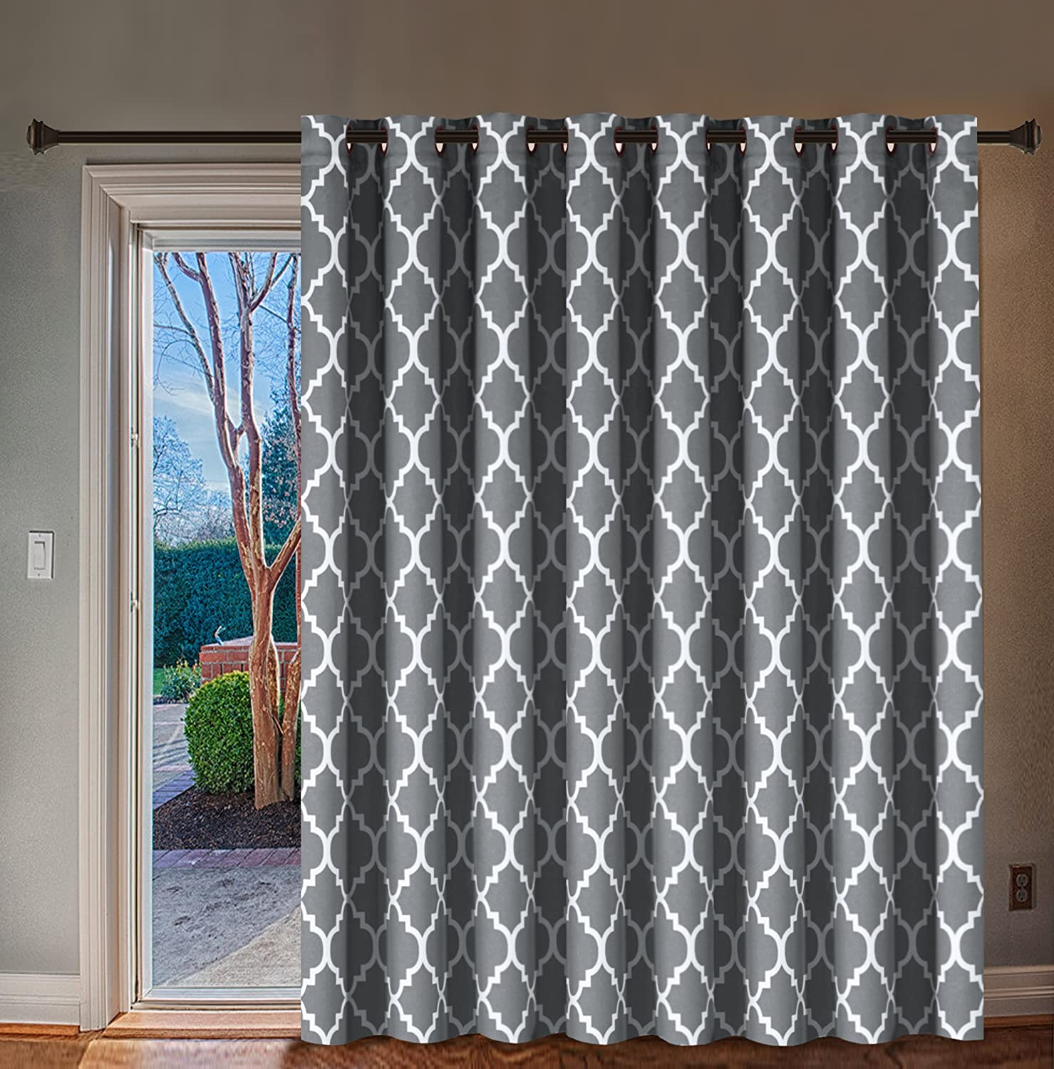 h versailtex extra wide blackout curtain 100x84 inches thermal insulated curtain for sliding glass door grommet top patio door curtain moroccan