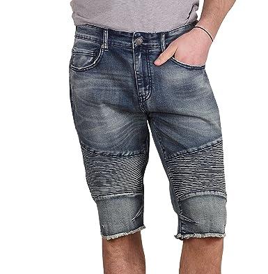 82828efb975 Jordan Craig Monterey Moto Denim Shorts at Amazon Men's Clothing store: