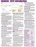 OneNote 2013 Introduction Quick Reference Guide (Cheat Sheet of Instructions, Tips & Shortcuts - Laminated Card)