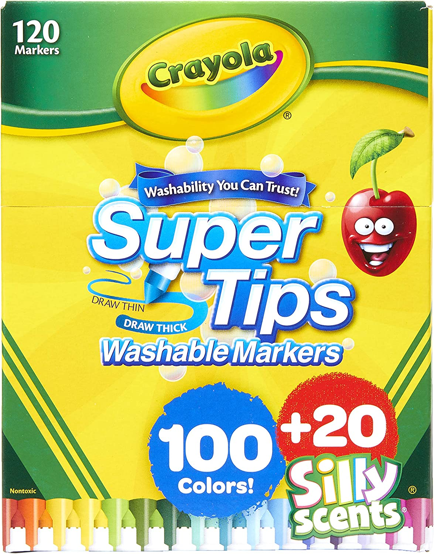 120 Crayola Super Tips Washable Markers -marcadores lavables