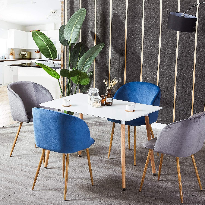 4x Sedie Sala da Pranzo in Velluto Moderne Poltroncine da ...