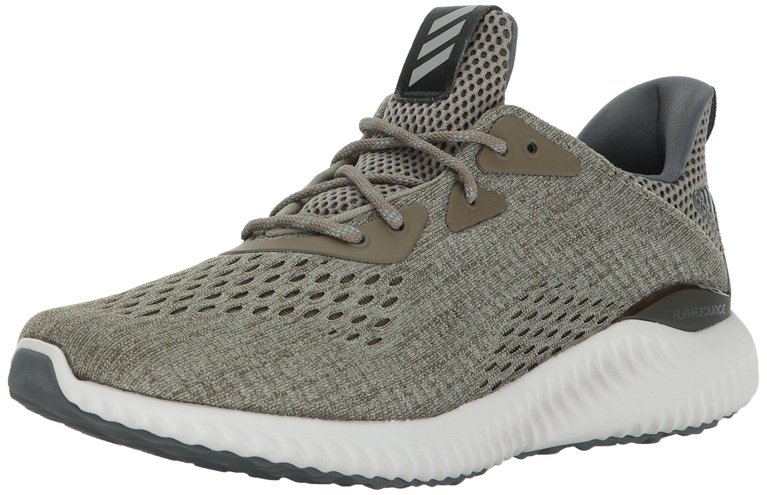 adidas Men's Alphabounce em m Running Shoe OliveTrace CargoGrey ONE, 13 Medium US