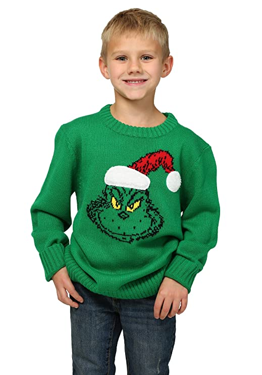 amazoncom how the grinch stole christmas boys ugly sweater clothing