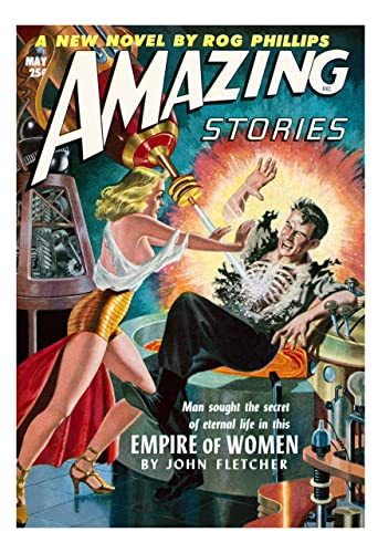 Amazing Stories 25  American Science Fiction Pulp Magazines Vintage Posters