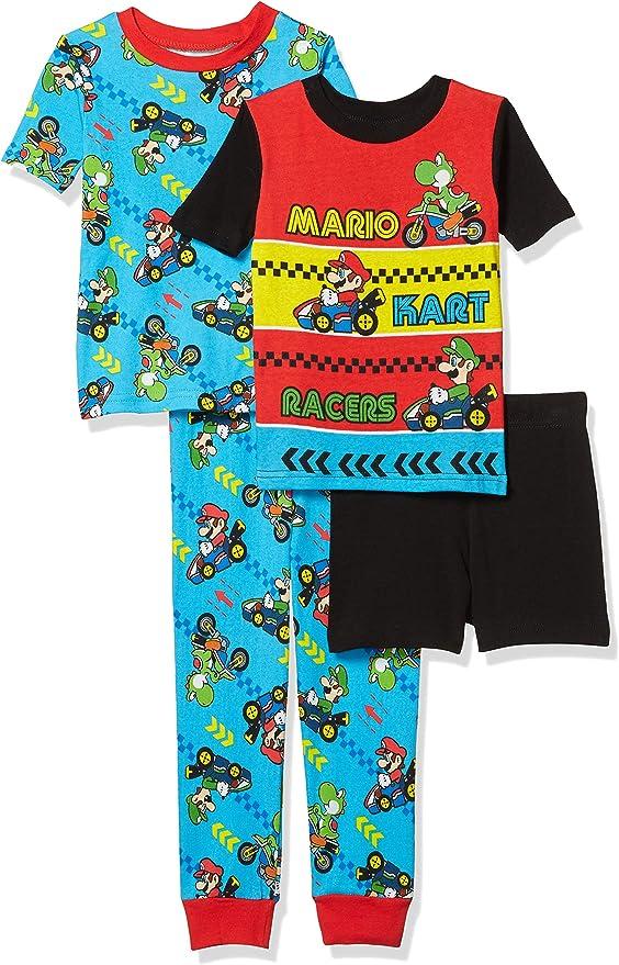 8 or 10  $38 SUPER MARIO BROS Flannel Pajamas Sleepwear Set NWT Boys Size 4 6