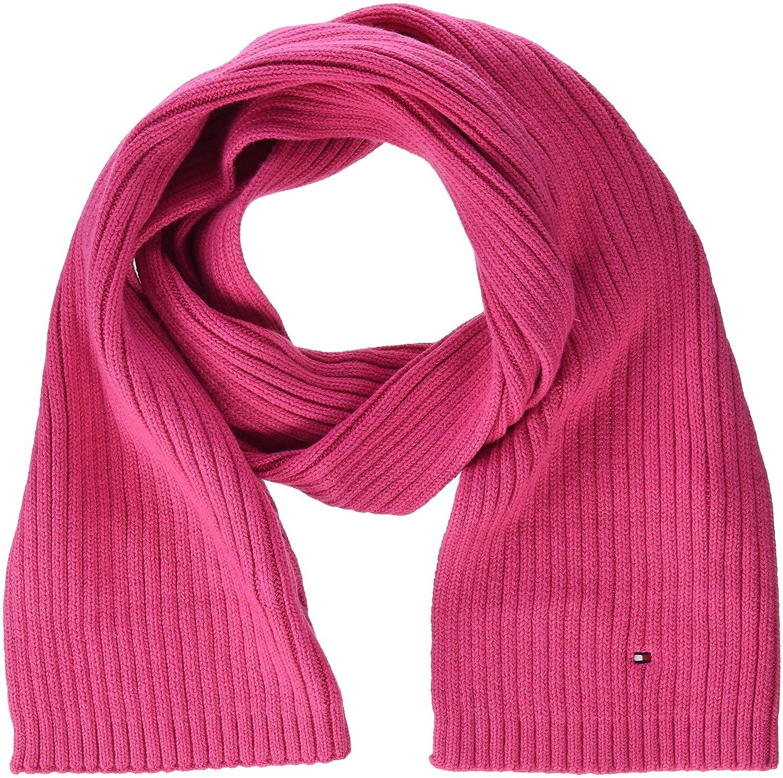 Rosa Pink Flambe 902 Unisex-Adulto Taglia Produttore: OS Tommy Hilfiger Pima Cotton Cashmere Scarf Sciarpa Unica