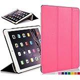"""Forefront Cases Étui en cuir à fermeture magnétique avec fonction de mise en veille/réveil automatique pour Apple iPad Mini 7,9 """"avec écran Retina black_p  iPad Mini  Rose - rose"""
