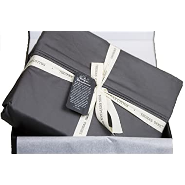 100% Egyptian Cotton Sheets, Genuine 1000 Thread Count 4 Piece Gift Box Set, Hotel Luxury Sateen Weave Extra Deep Pockets (Queen, Charcoal)