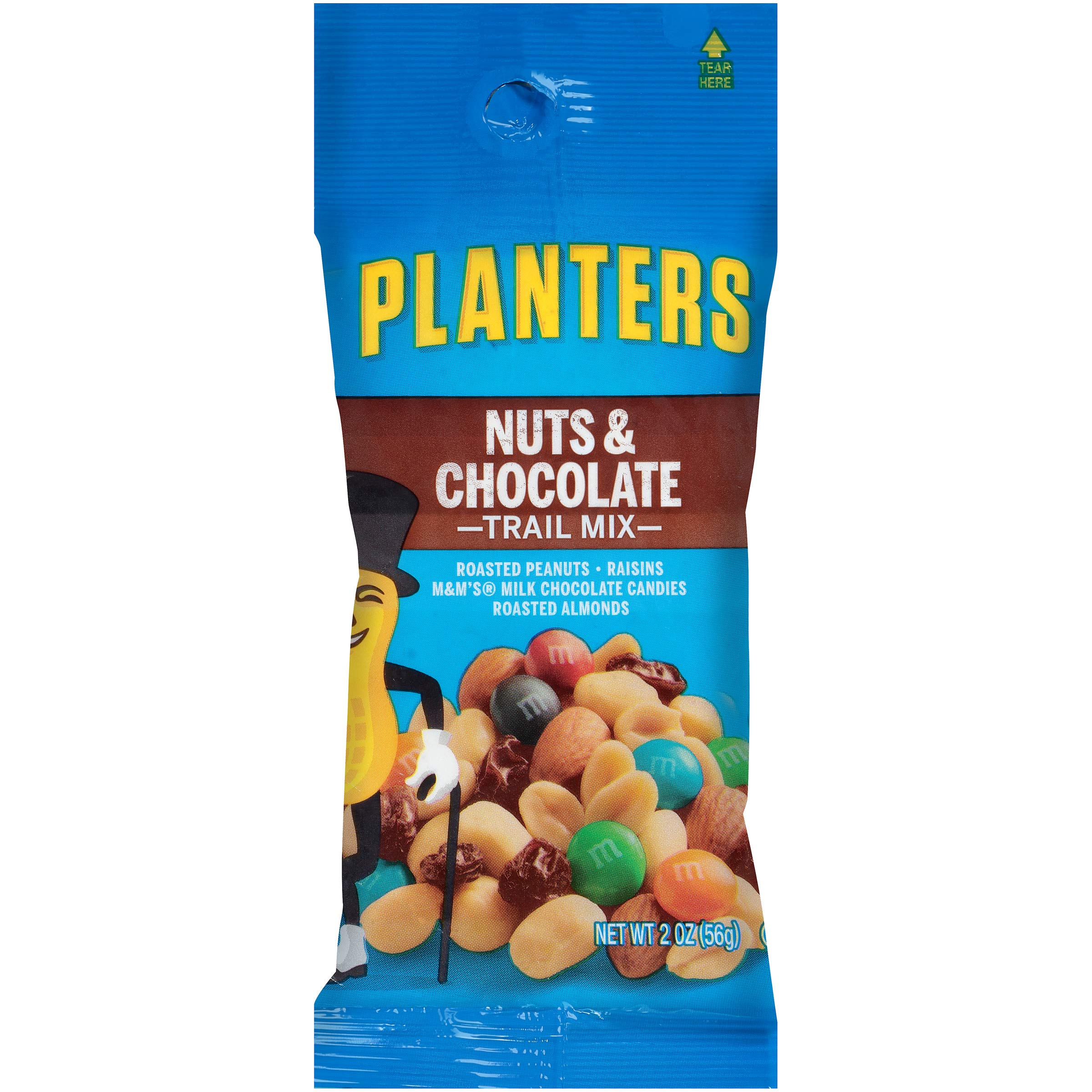 Planters Nuts & Chocolate M&M's Trail Mix, 2 oz Bag (Pack of 72)