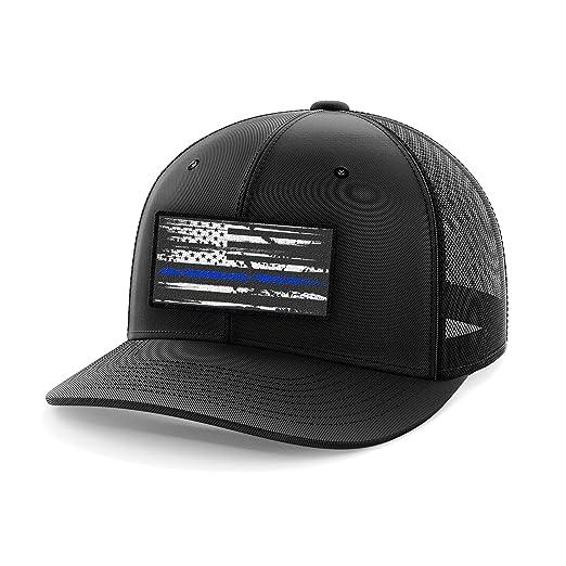 1dec677ff65 Tactical Pro Supply Thin Blue Line Flag Flexflit Hat (S M)
