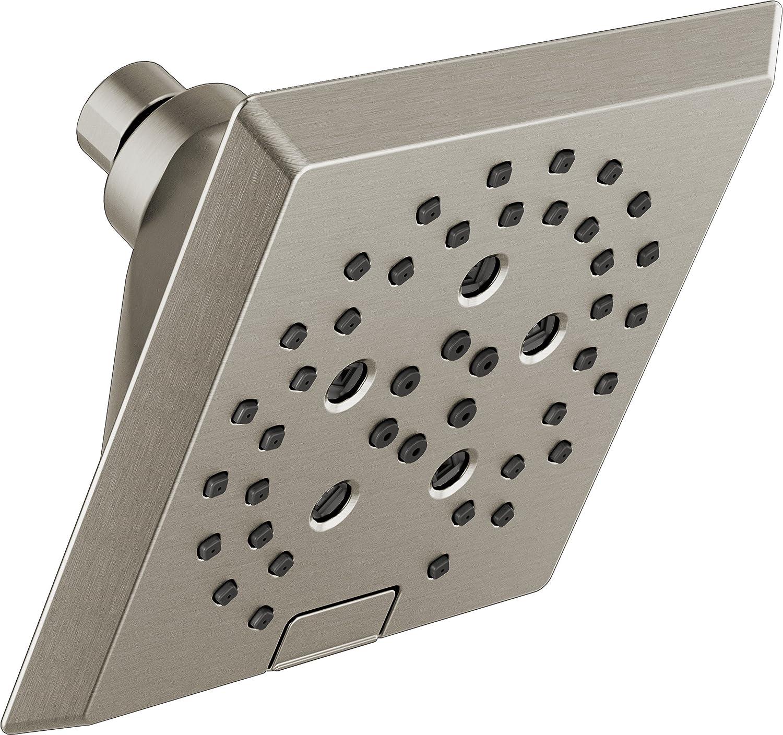 Delta  3-Spray  Raincan Square Shower Head in brushed nickel Finnish Brand New