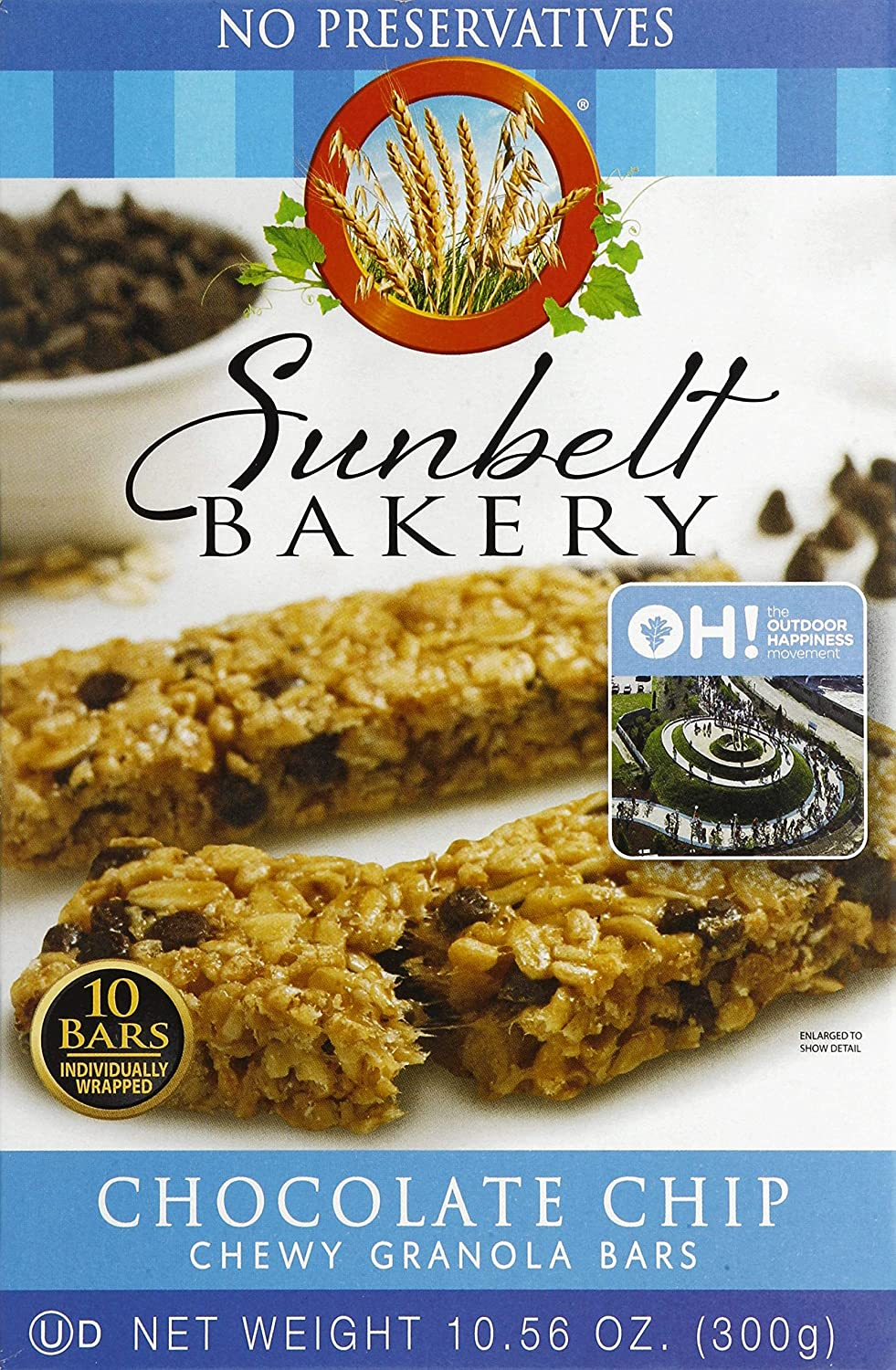 Sunbelt Bakery Chewy Chocolate Chip Granola Bars, 1.1 Ounce Bars, 80 Count
