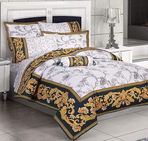 Amazon.com: Primor Casa Griega 4 Pieces Reversible Comforter Set