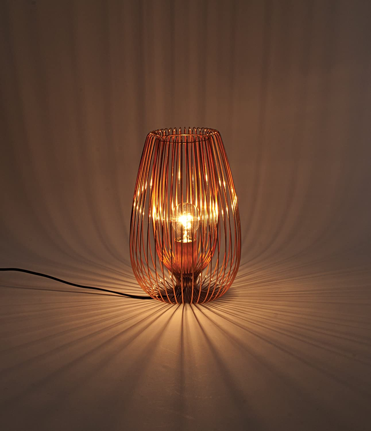 Contemporary modern copper wire table light lamp 42w amazon contemporary modern copper wire table light lamp 42w amazon lighting greentooth Images