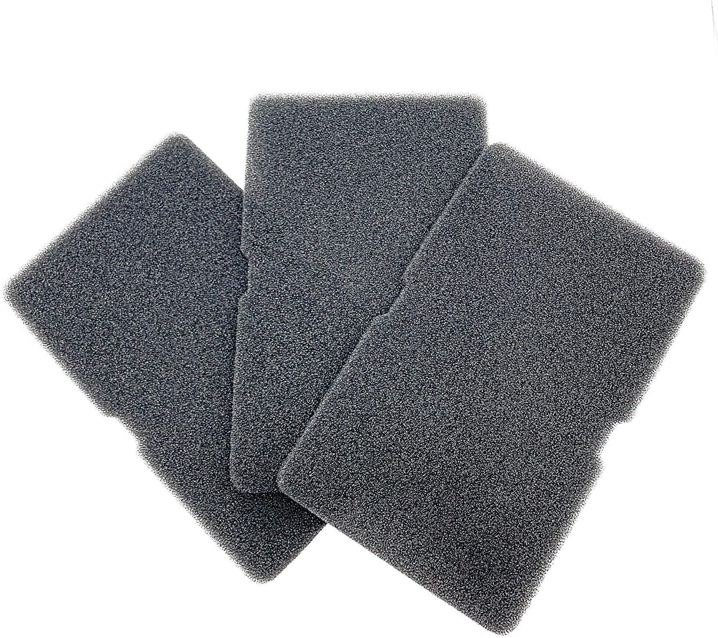 Juego de 3 filtros para secadora de bomba de calor Beko Grundig, filtro de esponja, esterilla de filtro, secador de condensación, filtro de pelusa, filtro de pelusa 2964840100