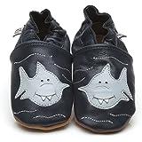 Suaves Zapatos De Cuero Del Bebé Tiburón 6-12 meses