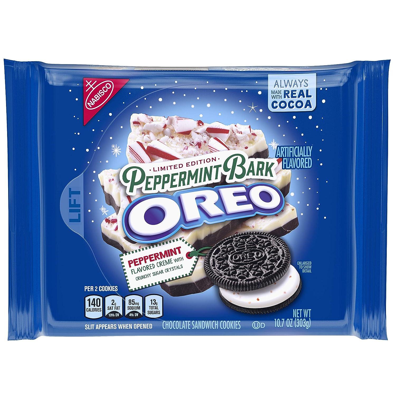 Oreo Seasonal Peppermint Bark Chocolate Sandwich Cookies 10 7 Oz