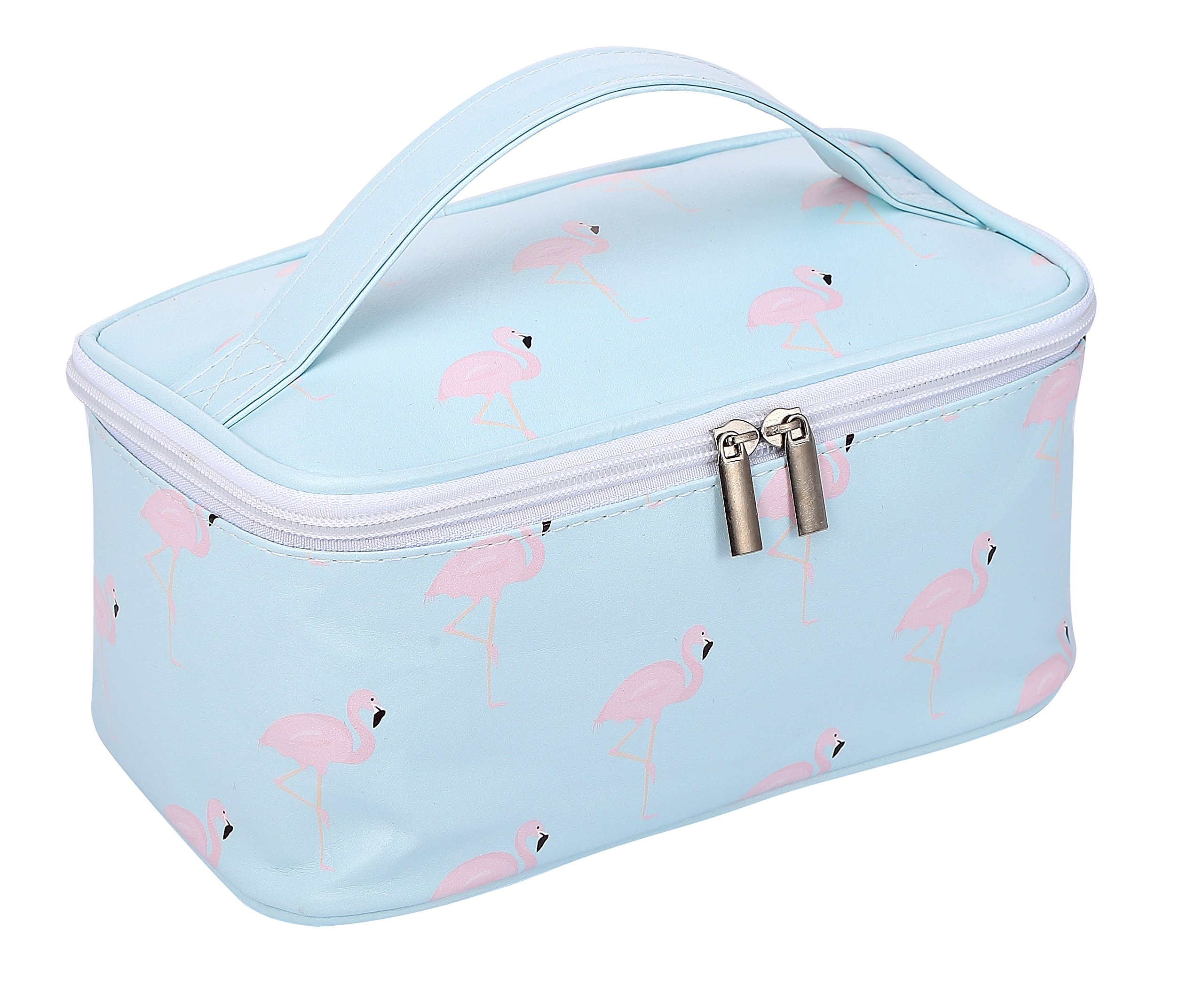 HOYOFO Makeup Bags Flamingo Travel Cosmetic Case Toiletry Storage Bag for Women
