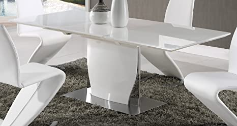 Amazon Com Global Furniture Dining Table White High Gloss Furniture Decor