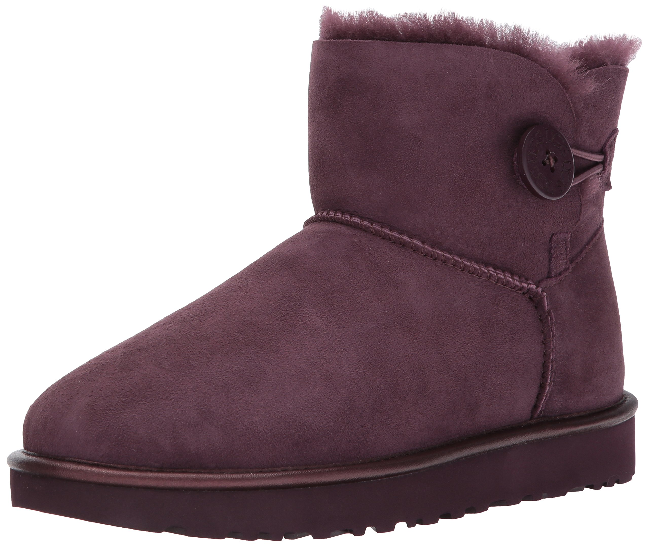 UGG Women's Mini Bailey Button Ii Metallic Winter Boot,Port,10 M US