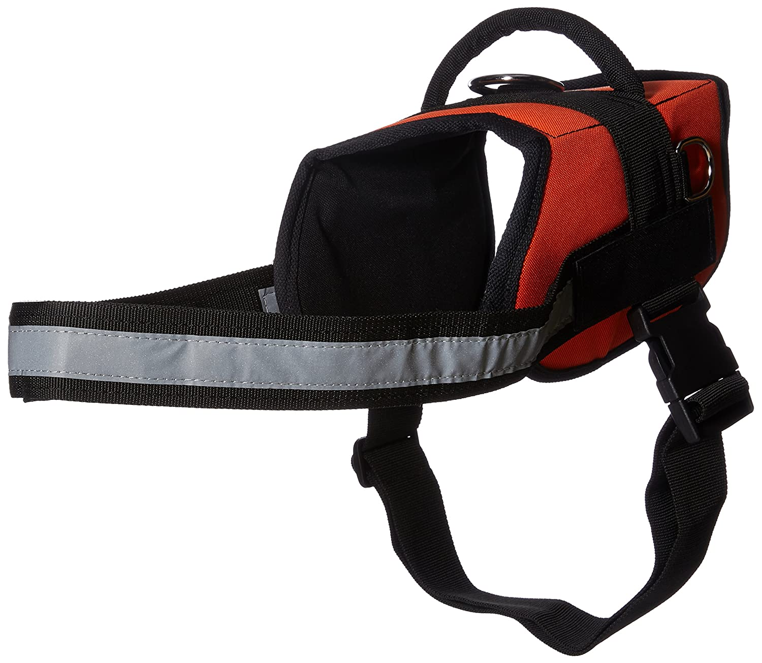 L Dean & Tyler DT Works Deaf Dog Dog Harness, Fits Girth Size 34-Inch to 47-Inch, Large, orange Black