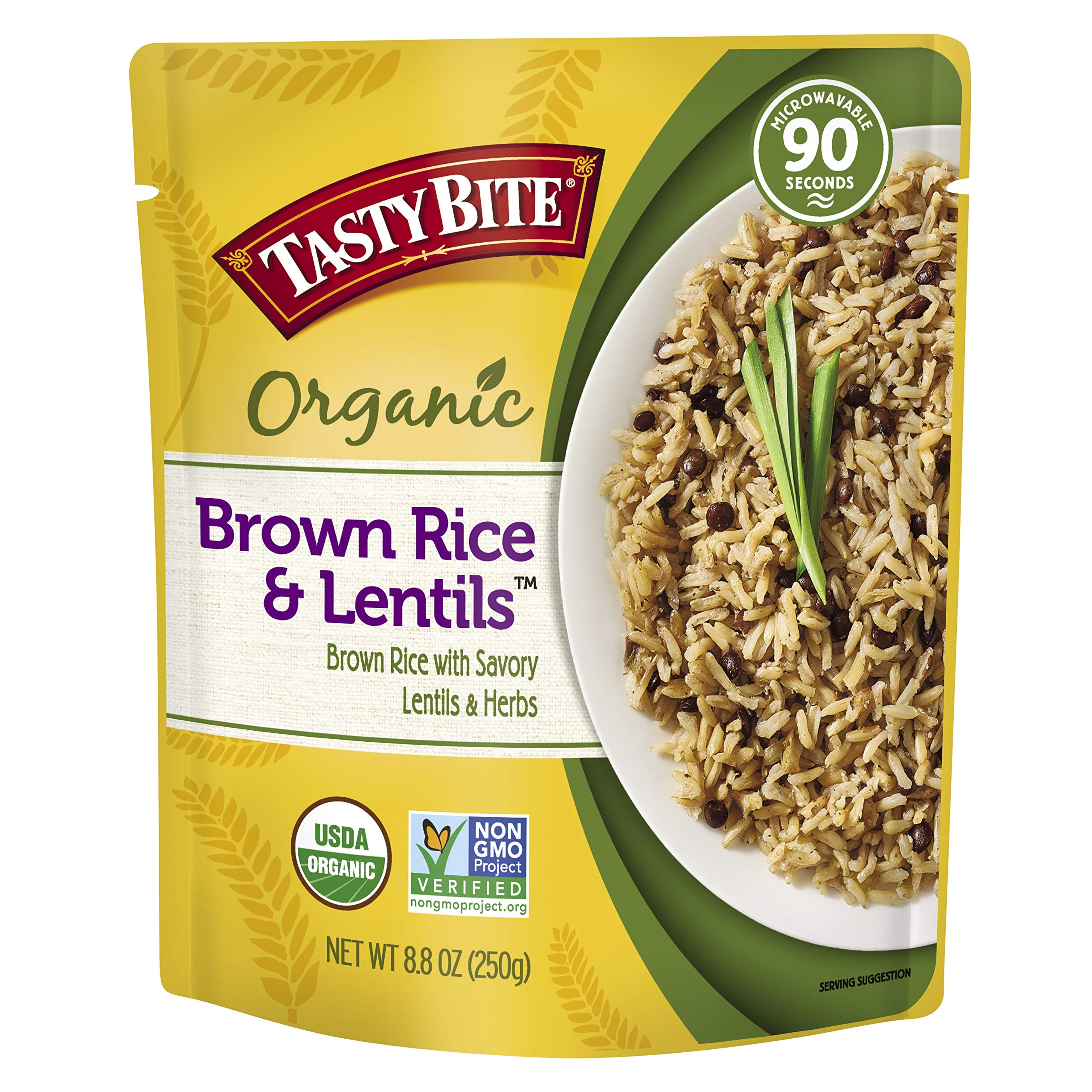 Tasty Bite Brown Rice Lentil 8.8 Ounce (Pack of 6), Whole Grain Brown