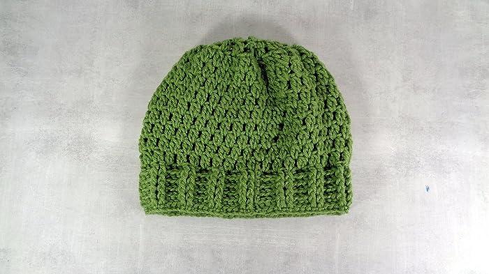 08d7ee99c5ca6 Amazon.com  Tea leaf green slouch hat textured brim slouchy beanie baggy hat  women men  Handmade