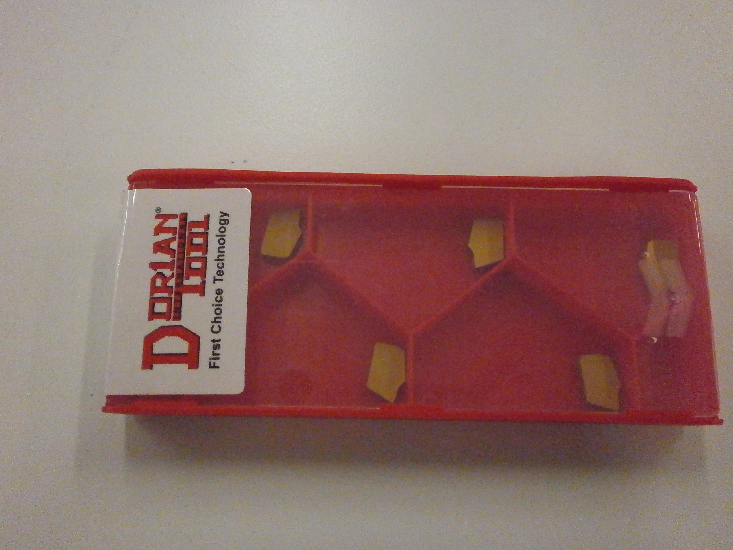 Dorian Tool SGTN 2 DC656 GTN 2 Carbide Cut Off Inserts Gold Coated for Steel, Made in USA, 82222