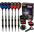 IgnatGames Plastic Tip Darts Set - Soft Tip Darts for Electronic Dart Board with Extra Tips and Flights + Aluminum Shafts wit