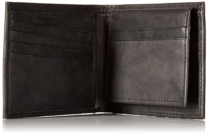 1cec88097f91 Amazon.com  Ben Sherman Manchester Full Grain Marble Crunch Leather  Passcase Wallet With Flip Up ID Window (RFID)