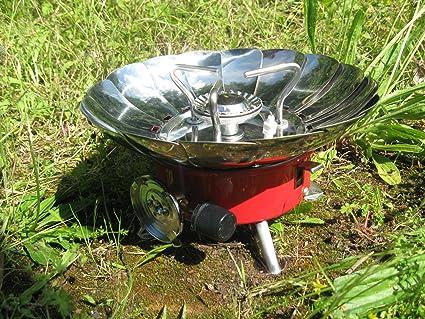 Mini portátil cortavientos Camping estufa de gas Cocina, Picnic Festival esencial