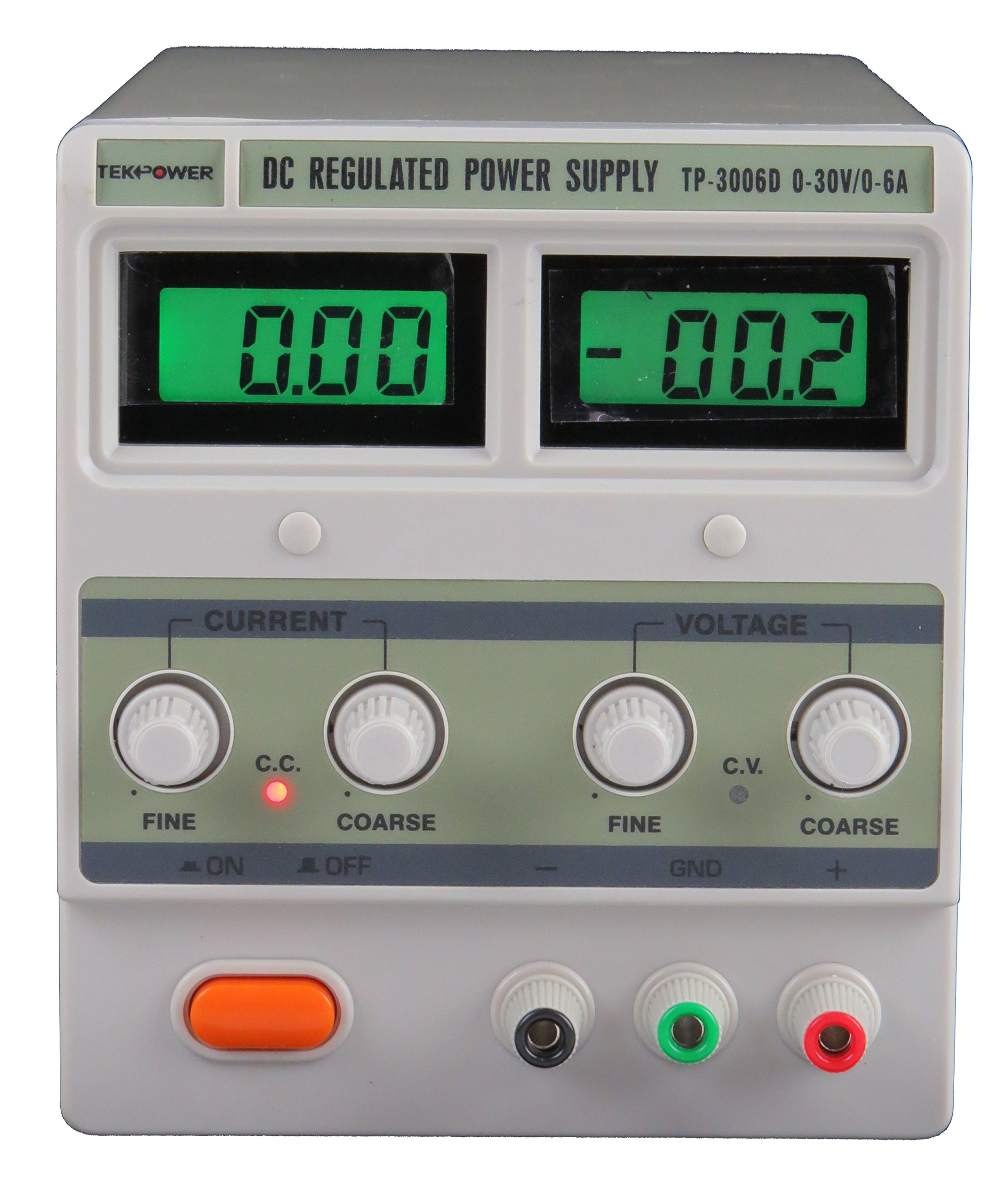 Tekpower TP3006D Linear Variable DC Power Supply, 30V,6A Low Noise,Lab Grade