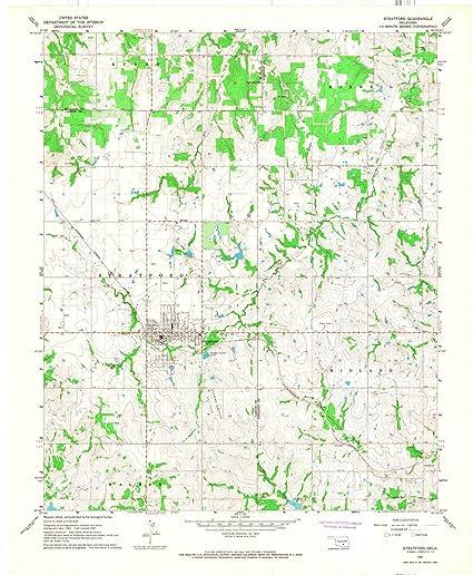 Amazon.com: Oklahoma Maps | 1967 Stratford, OK USGS Historical ...