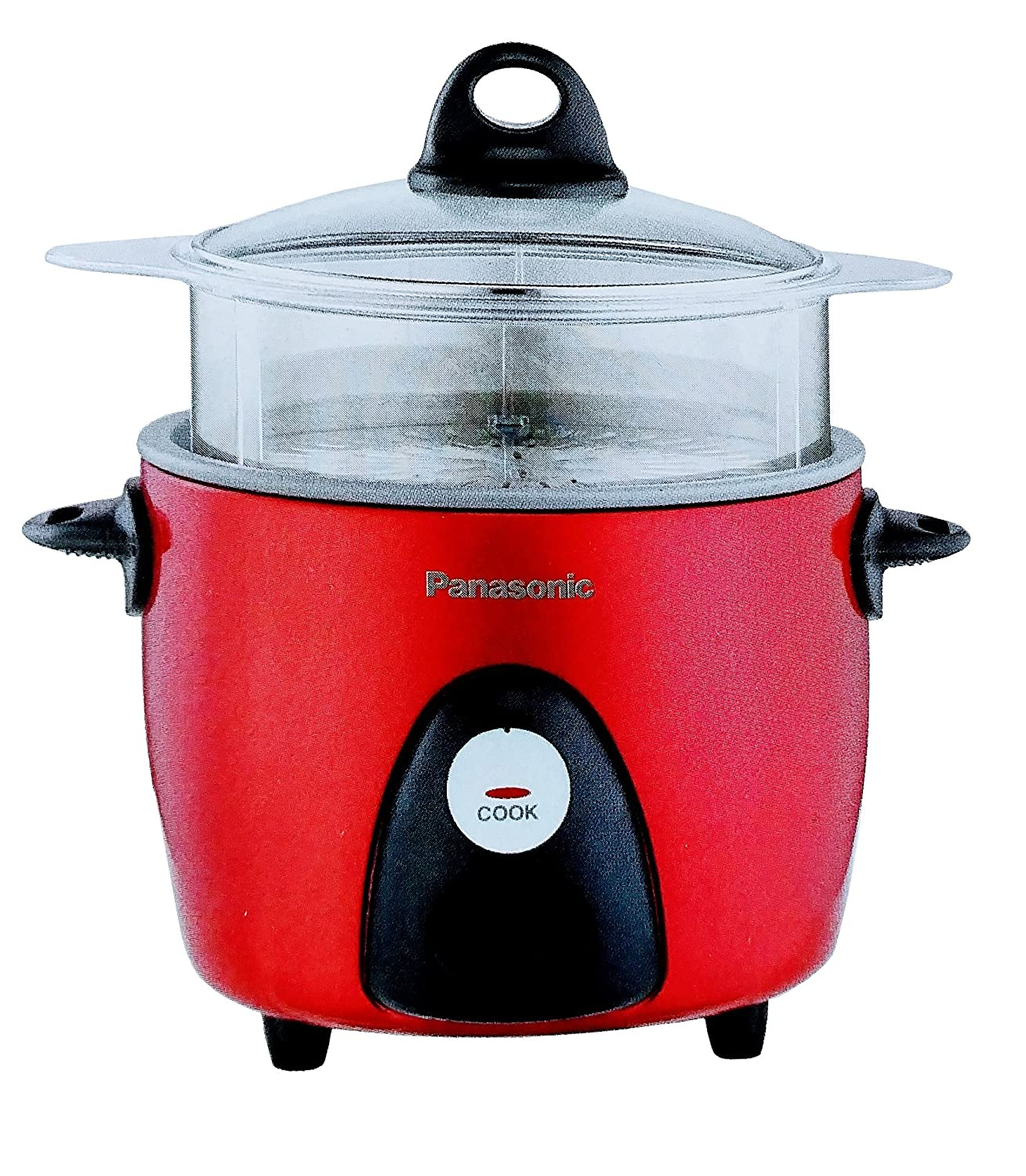 PANASONIC SR-G06FGER Automatic Rice Cooker/Steamer (Color: Red)