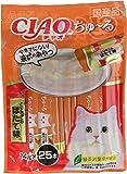 [訳あり(賞味期限2020年3月末)] チャオ (CIAO) 猫用おやつ ちゅ~る とりささみ ほたて味 14g×25本入