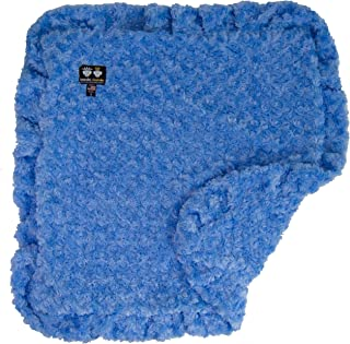 product image for Bessie and Barnie Blue Sky (Ruffles) Luxury Ultra Plush Faux Fur Pet, Dog, Cat, Puppy Super Soft Reversible Blanket (Multiple Sizes)