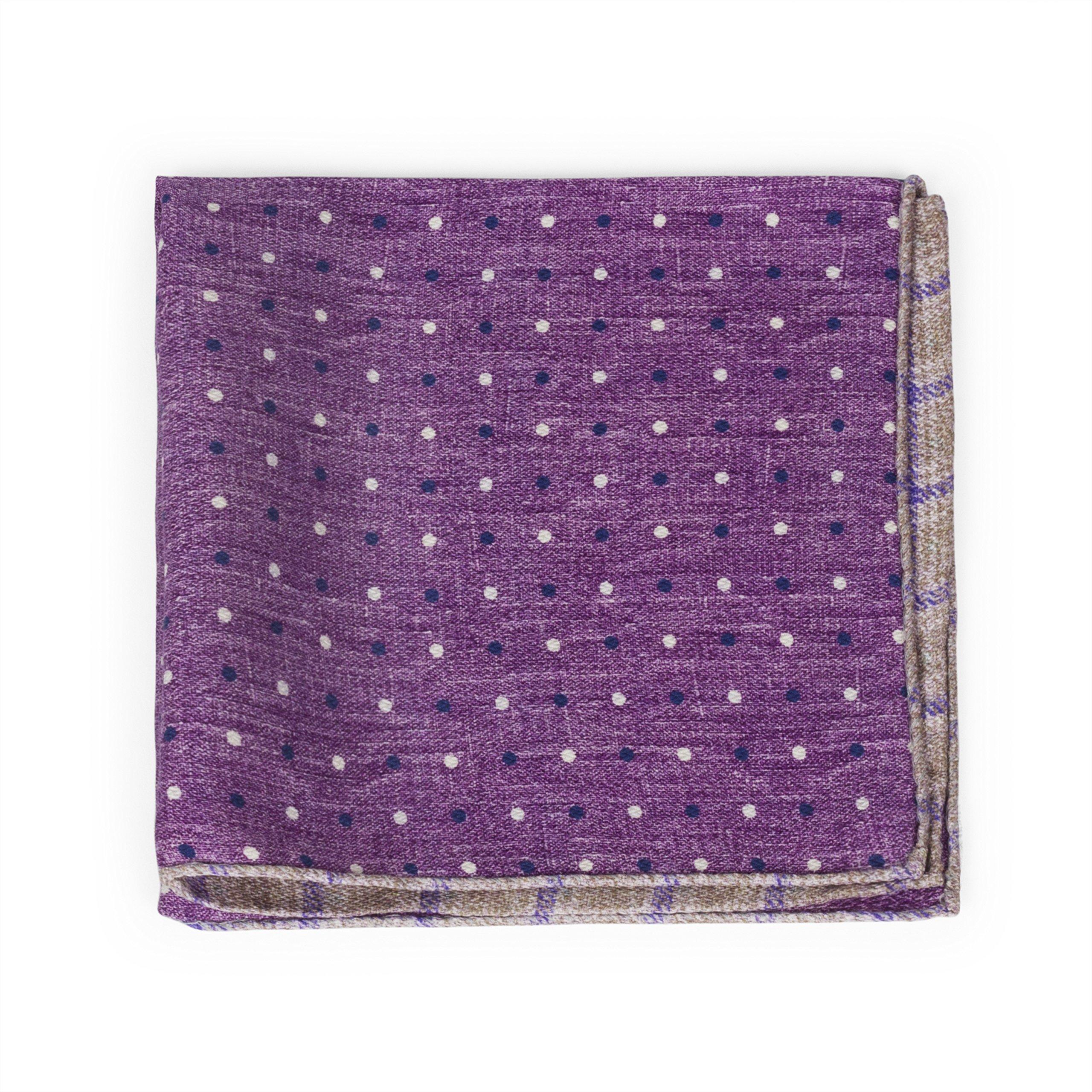 Men's Italian Pocket Square (Purple)