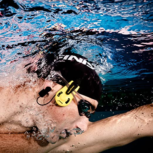 Finis AquaPulse - Pulsímetro para natación, color negro y amarillo