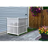"""Zippity Outdoor Products ZP19008 Wilmington Vinyl Privacy Screen, 36"""" x 48"""" White , 2- Pack"""
