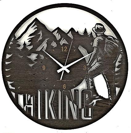 Instant Karma Clocks Hiking - Reloj de Pared para Senderismo ...